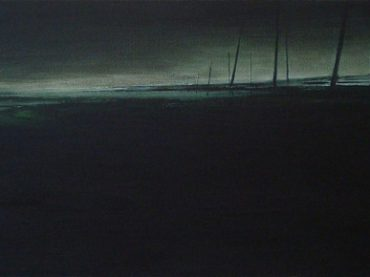 """Coastal landscape"", 50 x 120 cm, oil on canvas, 2009"