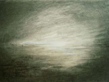 """De dageraad"", 47 x 67 cm, charcoal on paper/board, 2011"
