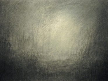 """After the storm"", 37 x 55 cm, charcoal on paper, 2011-2012"