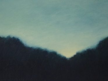 """Die Abendstille"", 40 x 80 cm, oil on canvas, 2013"