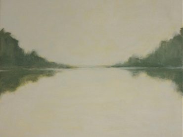 """The river"", 24 x 30 cm, acrylics on canvas, 2013"