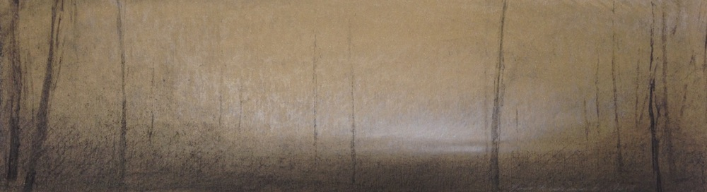 """Landscape"", 11 x 40 cm, charcoal and crayon on paper, 2013"