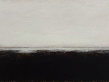 """Low tide"", acrylics on paper/panel, 16 x 32 cm, 2017"