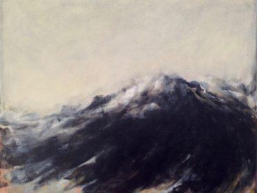 """Swelling sea"", acrylics on canvas, 40 x 50 cm, 2018"