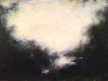 """""""Arcadian landscape"""", acrylics on paper/panel, 11 x 16 cm, 2018"""