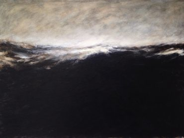 """Swelling sea"", acrylics on canvas, 50 x 70 cm, 2019"