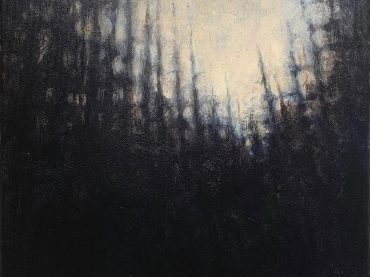 """Woods"", acrylic on canvas, 24 x 30 cm, 2020"