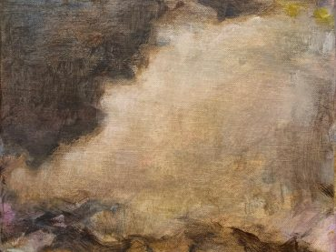 """Cloudscape"", acrylic on canvas, 24 x 30 cm, 2021"