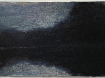"""""""Reflection (nocturne)"""", acrylic on paper/panel, 14 x 22 cm, 2020"""