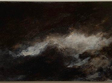 """""""Cloudscape"""", acrylic on paper/panel, 20 x 30 cm, 2020"""