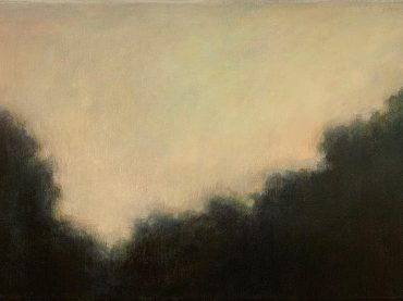 """Towards evening"", acrylic on canvas, 30 x 60 cm, 2021"